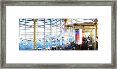 Interior Of An Airport, Ronald Reagan Framed Print by Panoramic Images