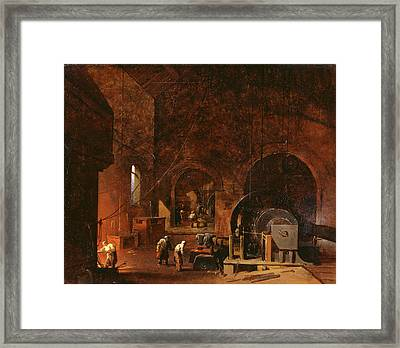 Interior Of An Ironworks, Godfrey Sykes, 1825-1866 Framed Print by Litz Collection
