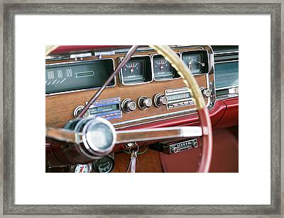 Interior Of An Old Classic Car Framed Print by Julien Mcroberts