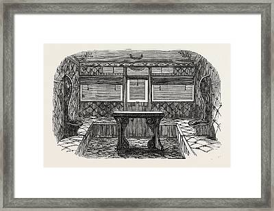 Interior Of Compartment Of First-class Carriage Framed Print