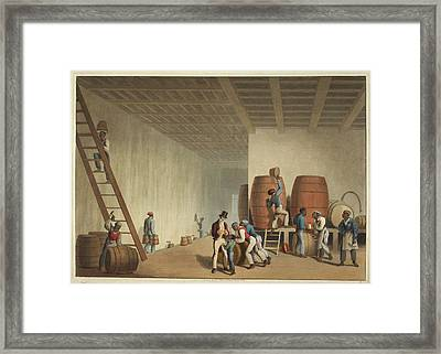 Interior Of Distillery Framed Print by British Library