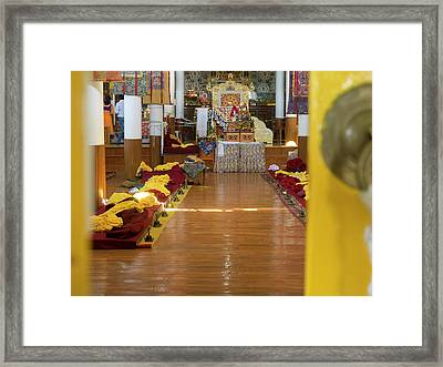 Interior Of First Floor Temple Framed Print
