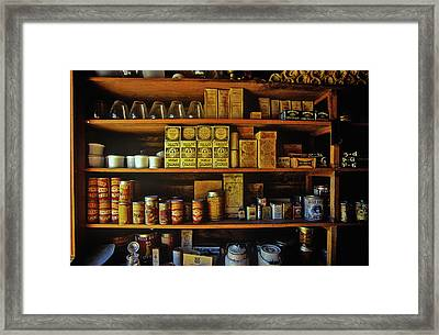 Interior Of General Store With Goods Framed Print
