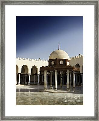 Framed Print featuring the photograph Interior Of Islamic Mosque by Mohamed Elkhamisy