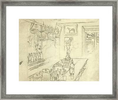 Interior Of Jack Mccann's Bar Framed Print