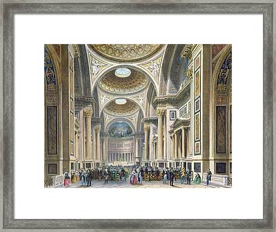 Interior Of La Madeleine, Paris Colour Litho Framed Print by Philippe Benoist