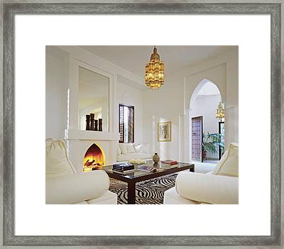 Interior Of Modern House Framed Print by Scott Frances