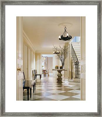 Interior Of Modern Living Room Framed Print