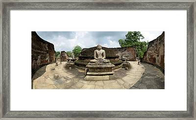 Interior Of Polonnaruwa Vatadage Framed Print by Panoramic Images