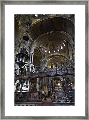Interior Of San Marco Basilica Framed Print