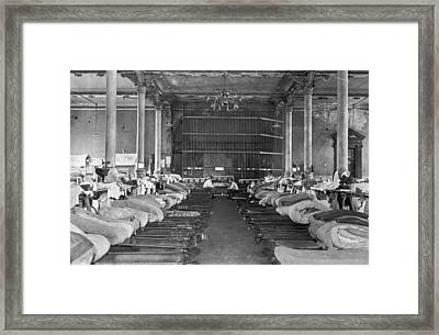Interior Of Sing Sing Prison Framed Print by Underwood Archives