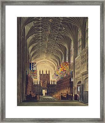Interior Of St. Georges Chapel, Windsor Framed Print