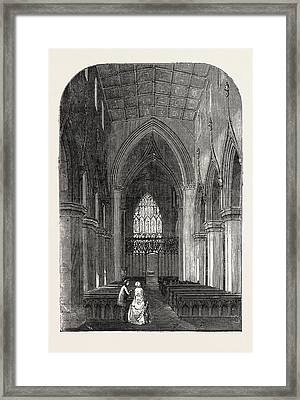 Interior Of St. Georges Church, Doncaster Framed Print by English School