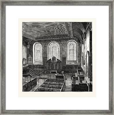 Interior Of St. Michaels Wood Street 1876 London Framed Print by English School