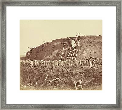Interior Of The Angle Of North Fort Immediately Framed Print by Litz Collection