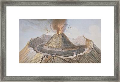 Interior Of The Cone Of Vesuvius Before Framed Print