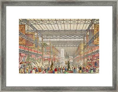 Interior Of The Crystal Palace, Pub Framed Print by Augustus Butler