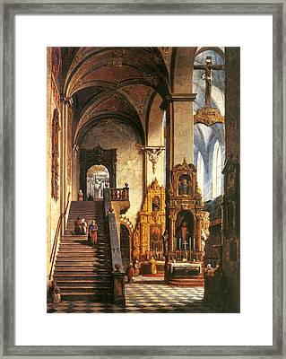 Interior Of The Dominican Church In Krakow Framed Print
