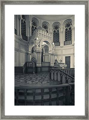 Interior Of The Grand Choral Synagogue Framed Print