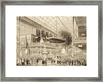 Interior Of The Great Exhibition, Grand Framed Print by English School