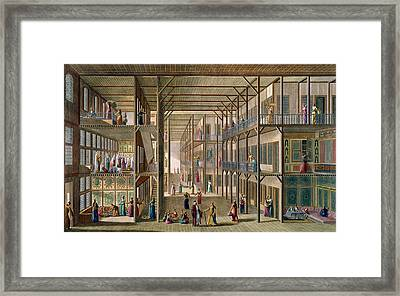 Interior Of The Harem Framed Print by Anton Ignaz Melling
