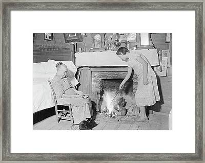Interior Of The Home Of An Elder Woman Framed Print by Stocktrek Images