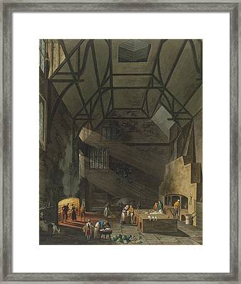 Interior Of The Kitchen, Trinity Framed Print by William Henry Pyne