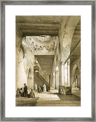 Interior Of The Maqsourah In The 9th Framed Print by Philibert Joseph Girault de Prangey