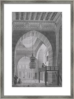 Interior Of The Mosque Of Kaid-bey Framed Print by Pascal Xavier Coste