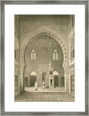 Interior Of The Mosque Of Qaitbay, Cairo Framed Print by French School