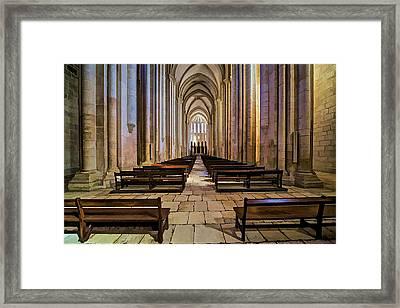 Interior Of The Monastery Da Batalha Framed Print