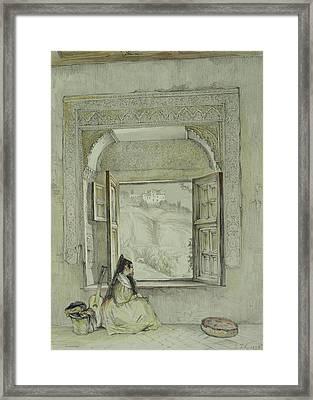 Interior Of The Palace At Madura Framed Print