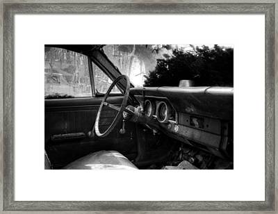 Interior Of The Past In Black And White Framed Print