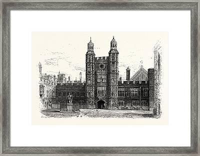 Interior Of The Quadrangle, Eton College, Uk, Britain Framed Print