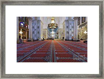Interior Of The Umayyad Mosque In Damascus Framed Print by Robert Preston