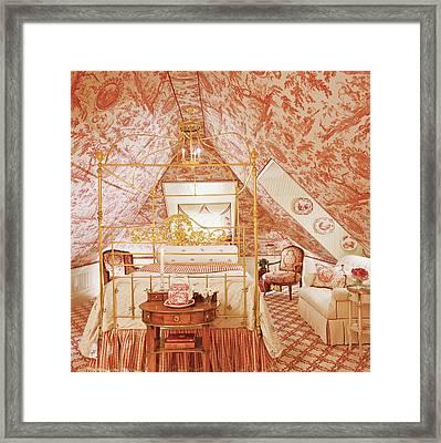 Interior Of Vintage Bedroom Framed Print