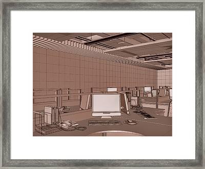 Interior Office Room Framed Print by Nenad Cerovic