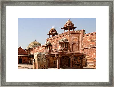 Interior Palace Courtyard Architecture Framed Print