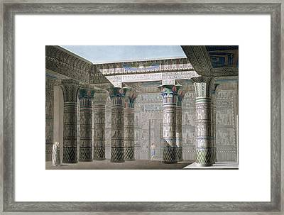 Grand Temple On The Island Of Philae Framed Print by Antoine Phelippeaux