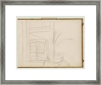 Interior Scene Edgar Degas, French Framed Print
