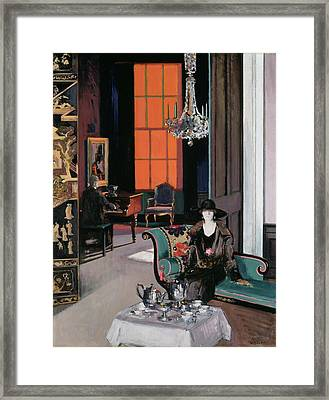 Interior - The Orange Blind, C.1928 Framed Print by Francis Campbell Boileau Cadell