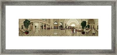Interior Union Station Washington Dc Framed Print by Panoramic Images