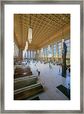 Interior View Of 30th Street Station Framed Print