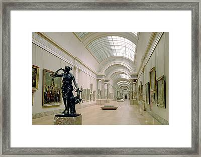 Interior View Of The Grande Galerie, 16th-19th Century Photo Framed Print by French School