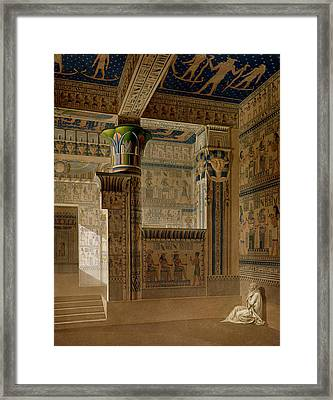 Interior View Of The West Temple Framed Print by Le Pere