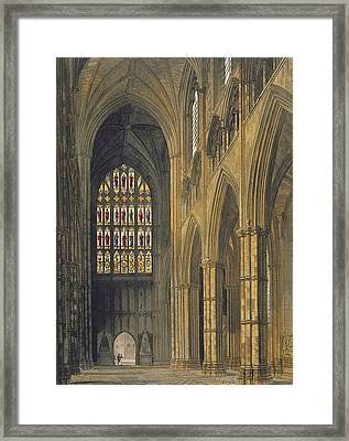 Interior View Of Westminster Abbey Framed Print