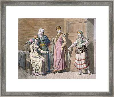 Interior With Circassian Women Framed Print