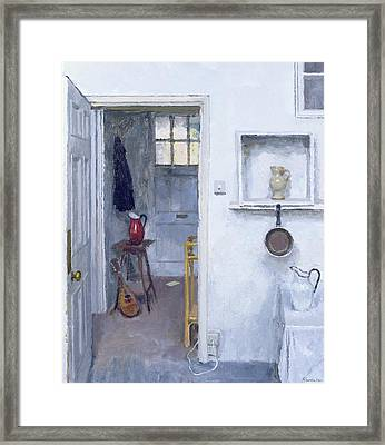 Interior With Red Jug Framed Print
