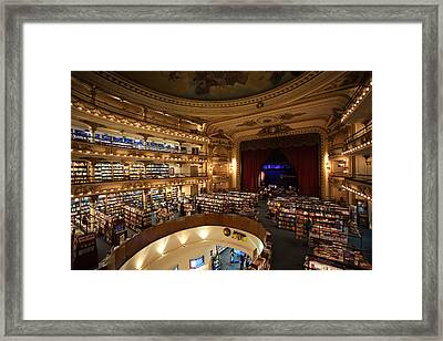 Interiors Of A Bookstore, El Ateneo Framed Print by Panoramic Images