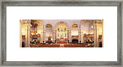 Interiors Of A Cathedral, Berlin Framed Print